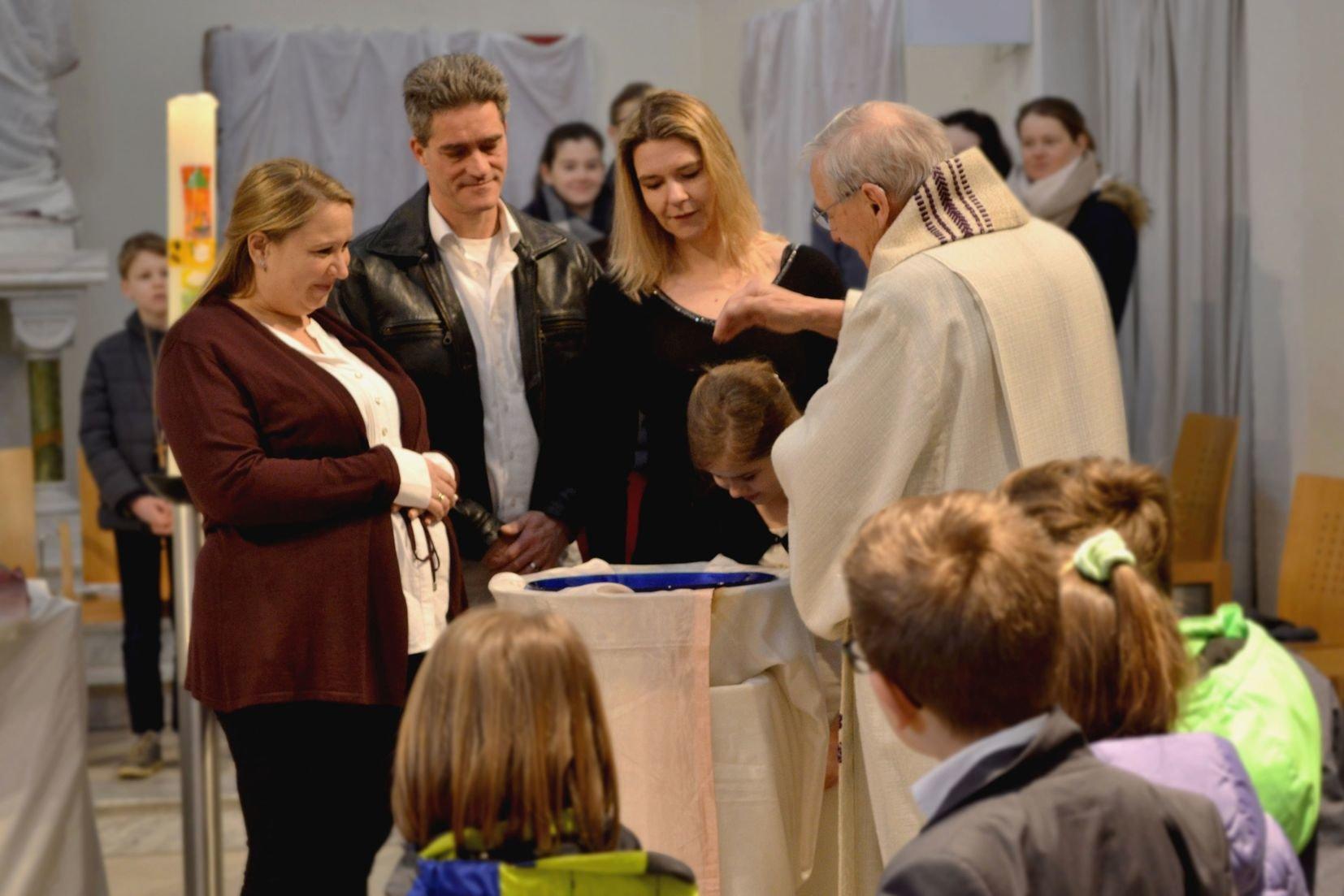 Katharina wird getauft