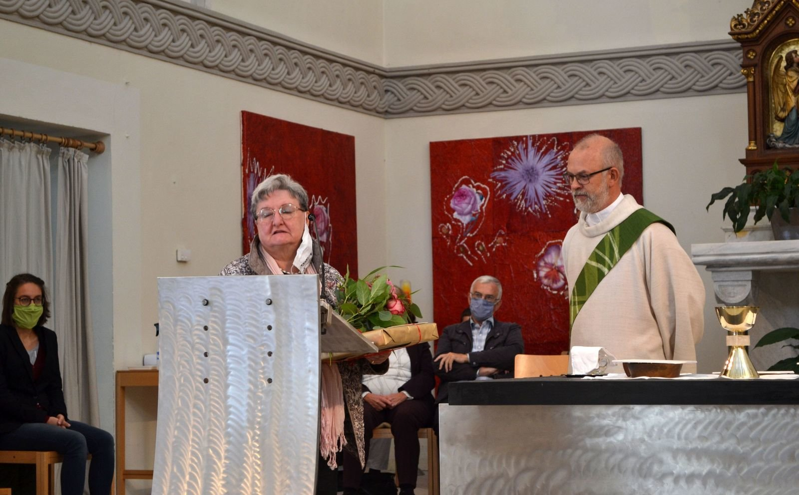 Pfarrsekretärin Christa wird verabschiedet